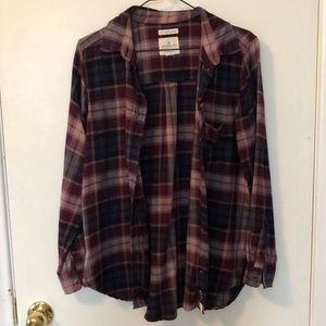 American Eagle Boyfriend Fit flannel SZ medium